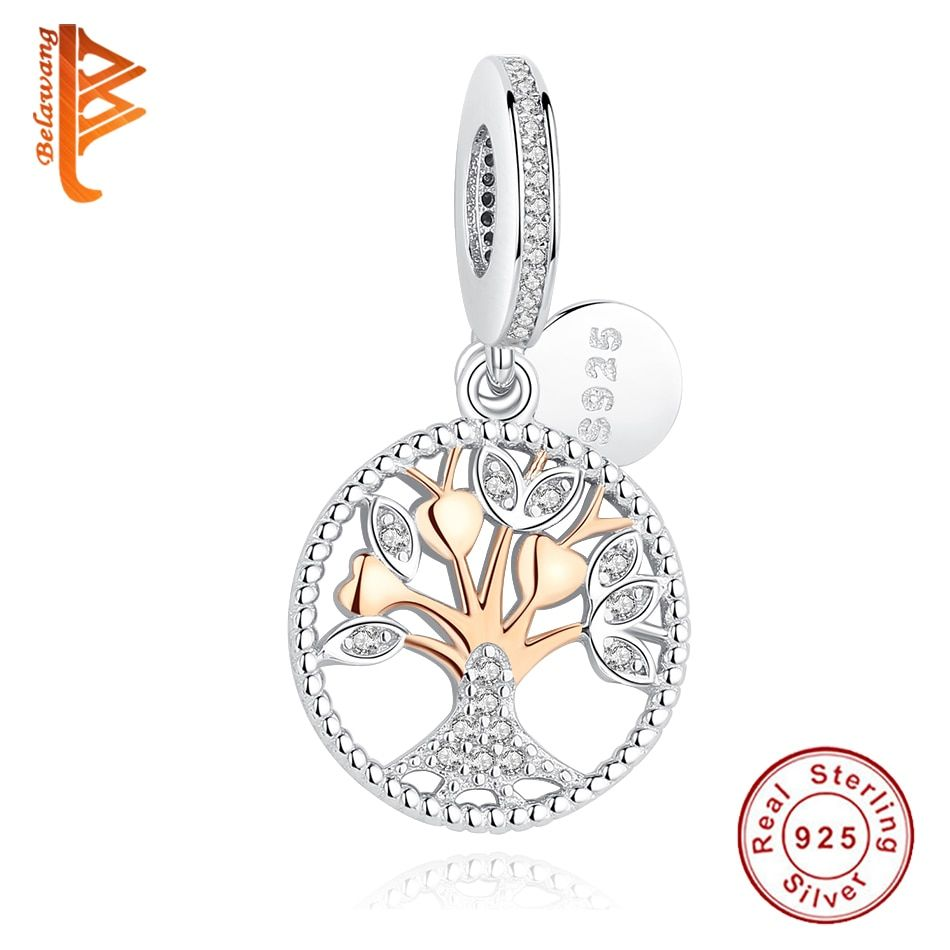 2019 New Authentic Rose Gold Love Heart Family Tree Dangle Charm Beads Fit Original Pandora Bracelet 925 Sterling Silver Jewelry Runolf Sterling Silver Bead Sterling Silver Jewelry Pandora Bracelet