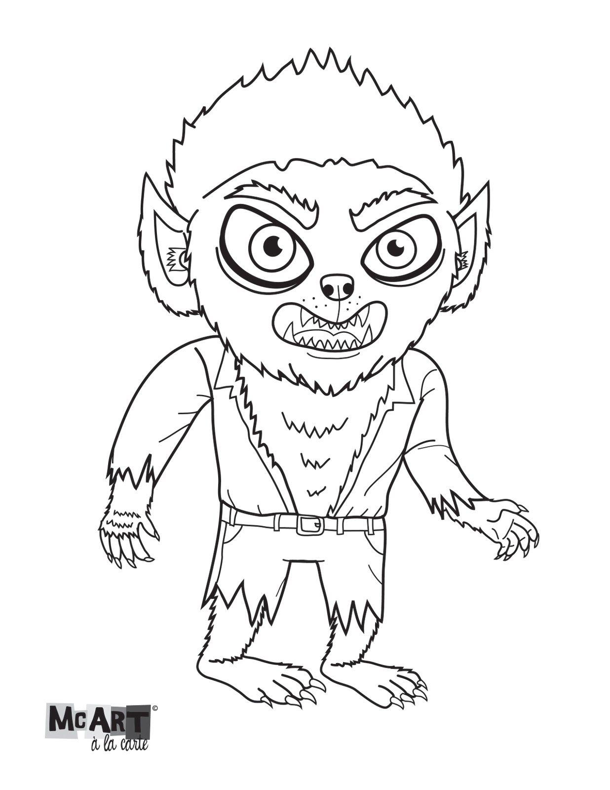 McArt à la Carte: Wolfman coloring page! | Coloring Pages ...