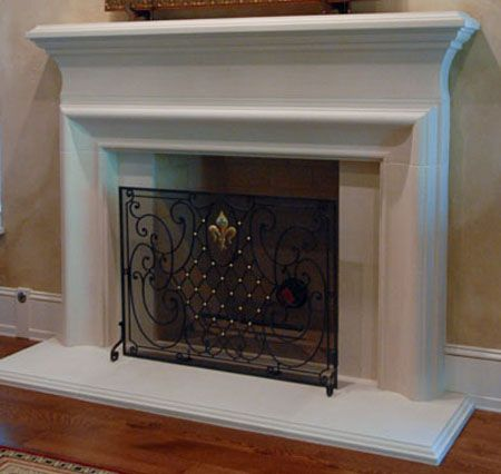 traditional Cast Stone Fireplace Mantel. great design http ...
