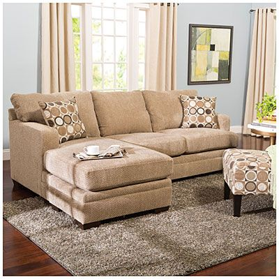 simmons columbia stone sofa with reversible chaise at big lots - Big Lots Home Decor