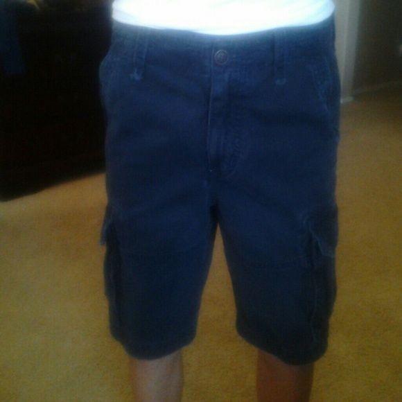 Abercrombie & Fitch cargo shorts Dark navy boys cargo shorts size 14 Abercrombie & Fitch Shorts Cargos