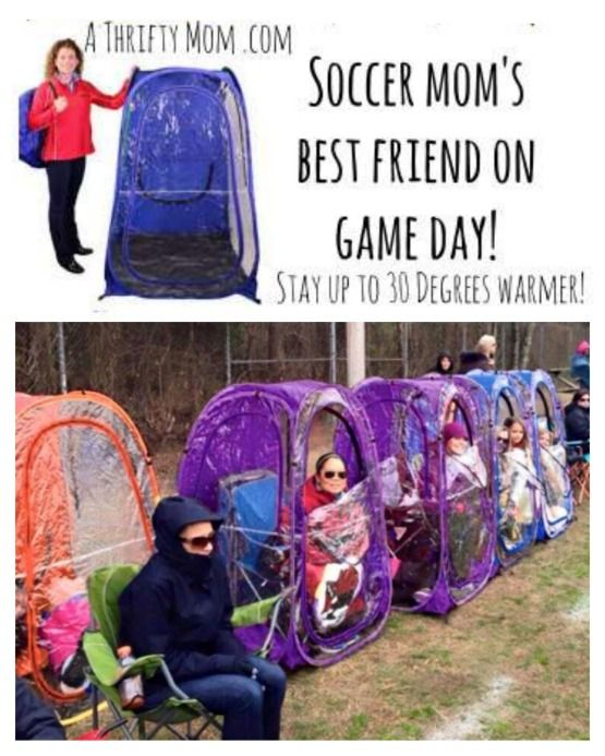 d5acfa42 Soccer Mom's best friend on game day Clear wall shelter to keep warm ...