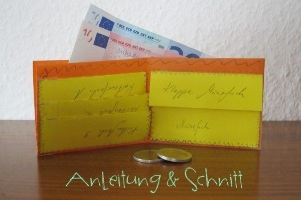 Upcycling - Anleitung und Schnitt für ein kleines Portemonnaie
