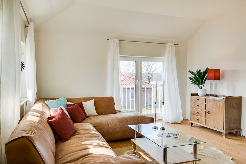 Wohnzimmer Mit Ledercouch Immodesign Home Staging Styling