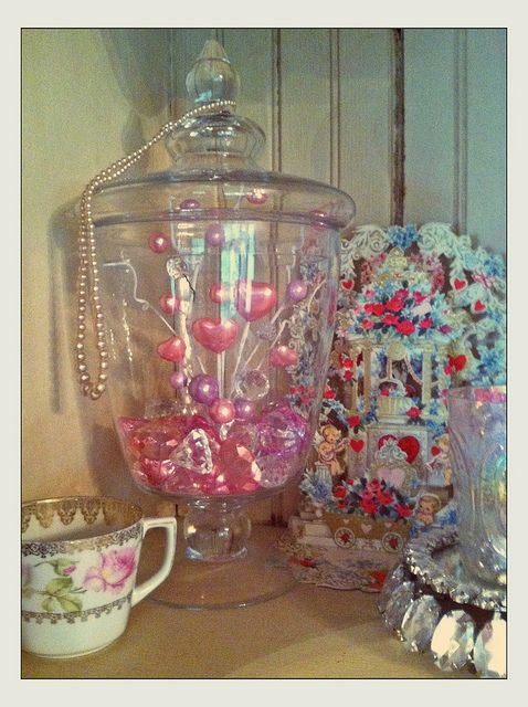 Apothecary Jar Filler For Valentine S Day Apothecary Jars Decor Valentine Decorations Apothecary Jars