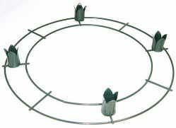 """12"""" Green Metal Advent Wreaths - Bulk Case of 25 Advent Wreaths by Panacea. $159.99. 4 - 1"""" candle cups to hold Advent Candles. 12"""" Diam Green Wire Advent Wreath. Case of 25 Individual Advent Wreaths. Case of 25 Individual Advent Wreaths are great for making floral decorations and center pieces on. They not only have a formed ring for creating floral arrangements on, but also have holders to use for adding candles. Nothings more romantic than a beautiful center piece filled ..."""