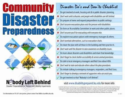 Community Disaster Checklist Preparedness Pinterest