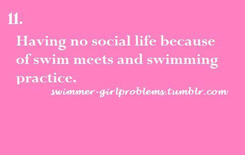 Swimmer girl problems