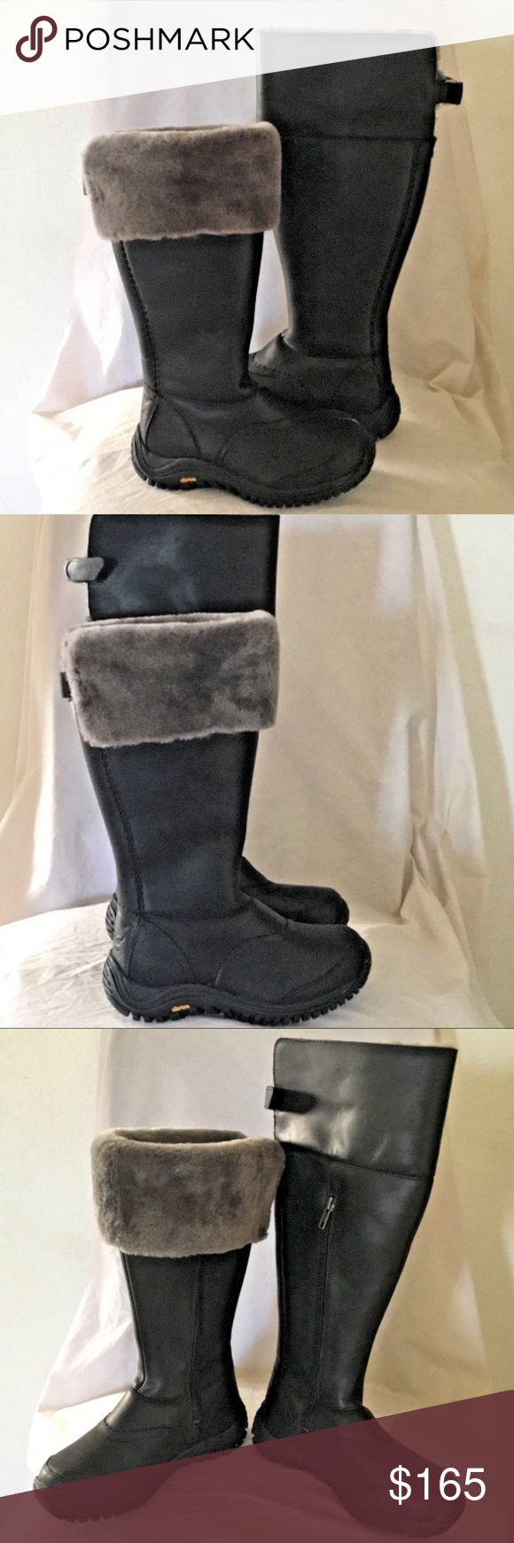 548ba3cc4f5 UGG Shoes   New Ugg Miko Black Leather Boots   Color: Black   Size ...