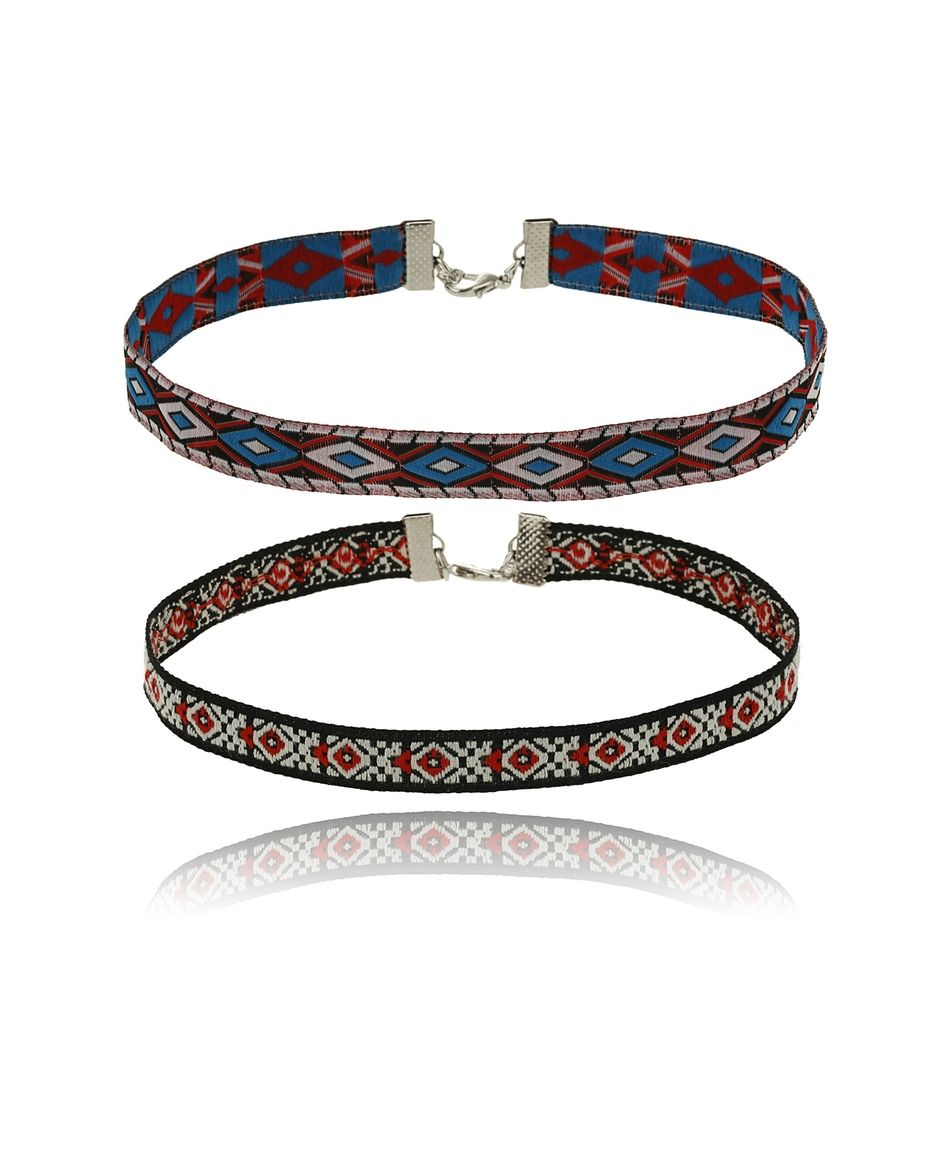Gina Tricot - Choker necklace Red multi