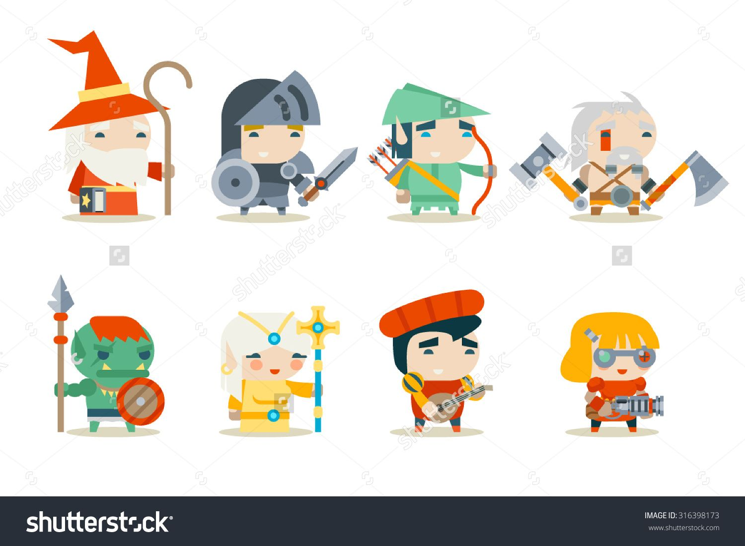 Character Design Icon : Lurk character art style brainstorm video game graphics