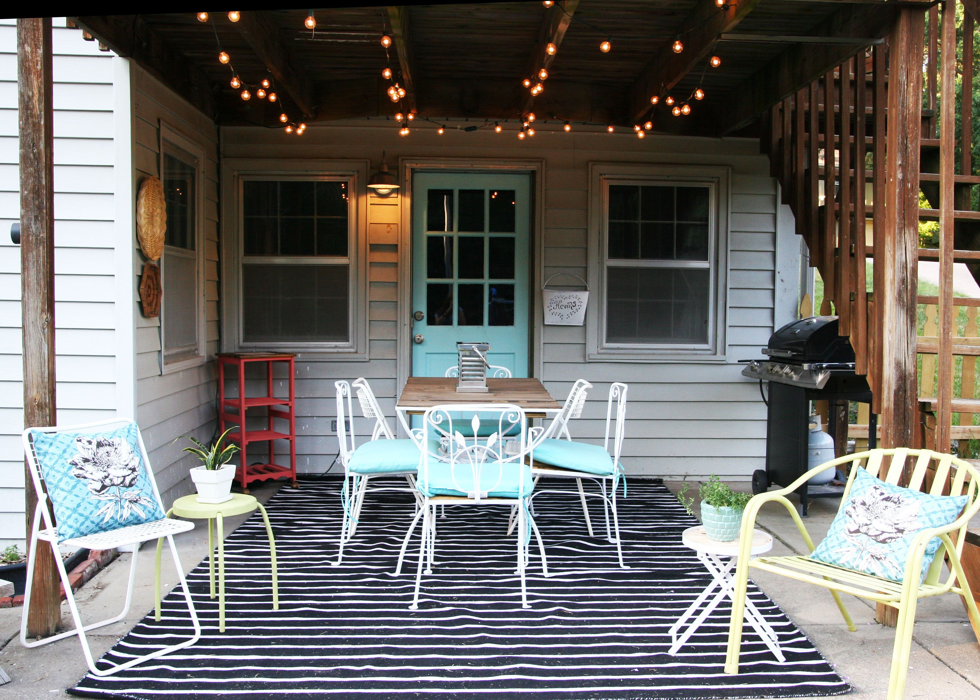 Learn How To Create A Lovely Patio Makeover On A Budget! Lots Of Easy DIYu0027s