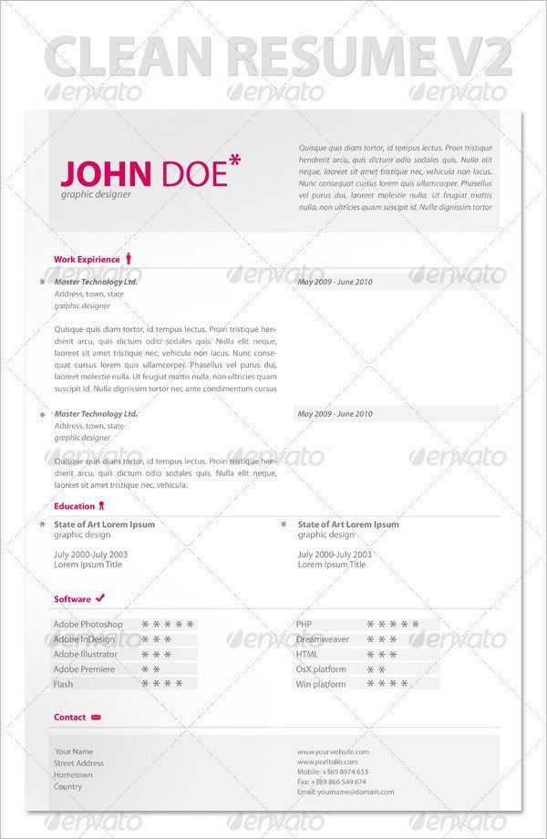 Apple Resume Template Modern Clean Resume  Mac Resume Template  Great For More .