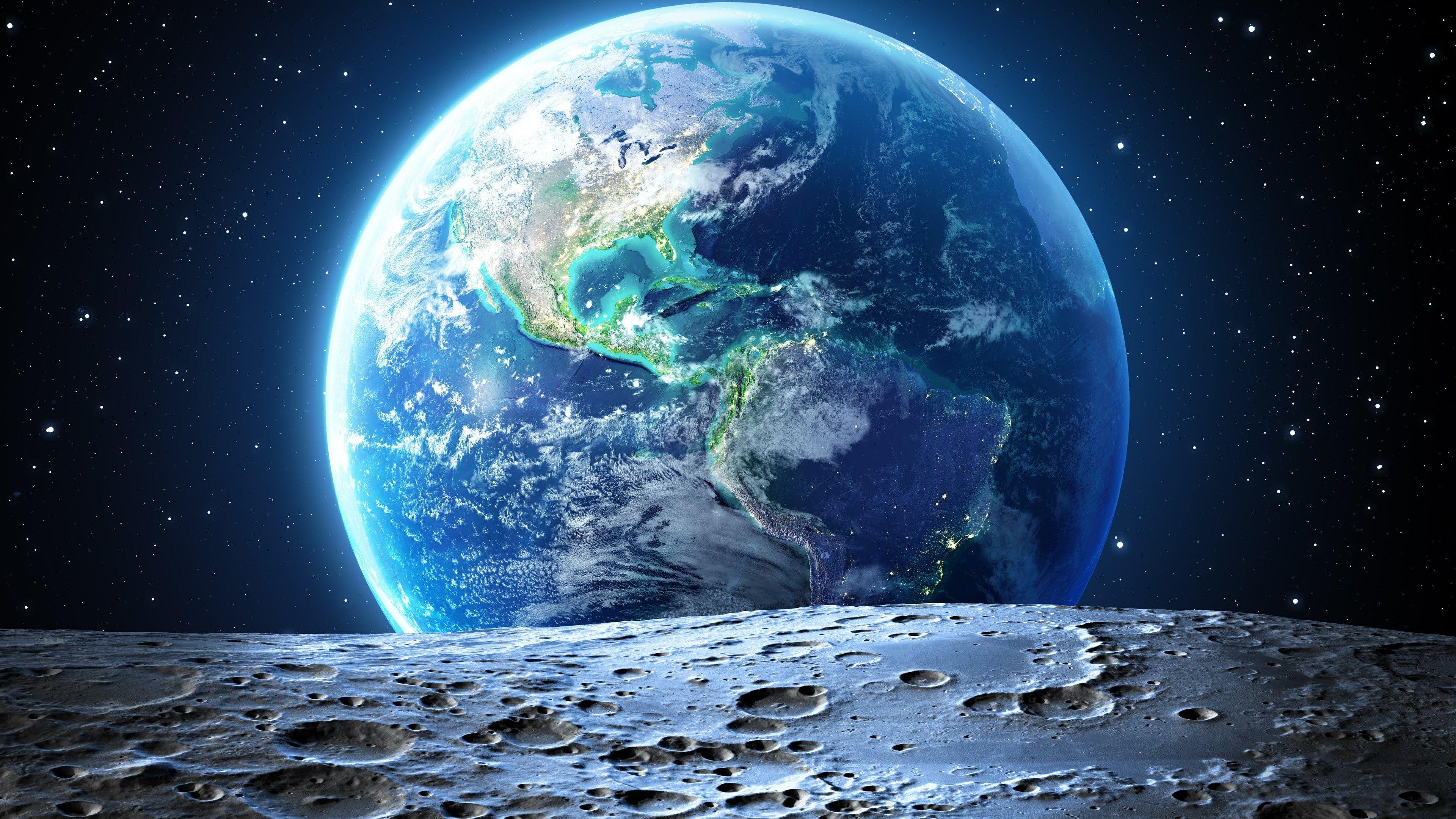 Earth Planet Stars Blue Marble Universe World Sky Space 4k Wallpaper Hdwallpaper Desktop Wallpaper Earth Earth View Wallpaper Space