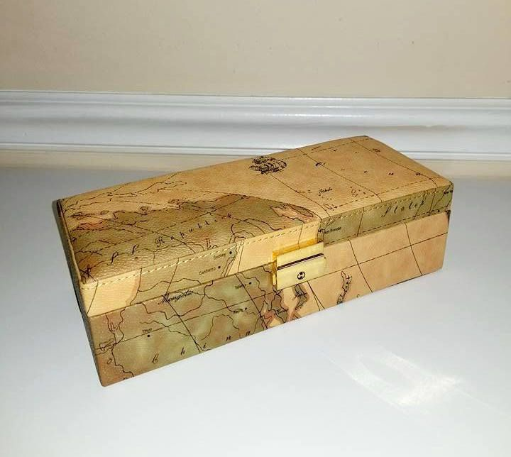 Old world map watch box vintage dresser box valet box jewelry box old world map watch box vintage dresser box valet box jewelry box gift for dad mens dresser box hinged atlas watch box with key gumiabroncs Gallery