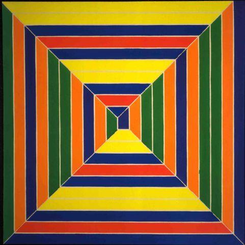 Color Maze - Frank Stella Art Experience NYC www.artexperiencenyc.com