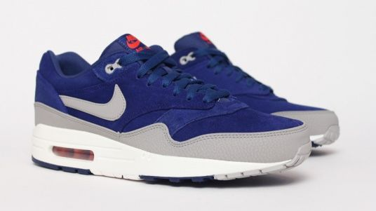 design intemporel 0478e 48eae Nike Air Max 1 - Bleu / Gris | Street wear | Sneakers nike ...