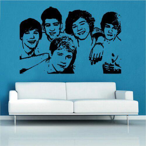 Wandtattoo One Direction East Urban Home Farbe: Brillantblau, Größe: Groß #directionquotes