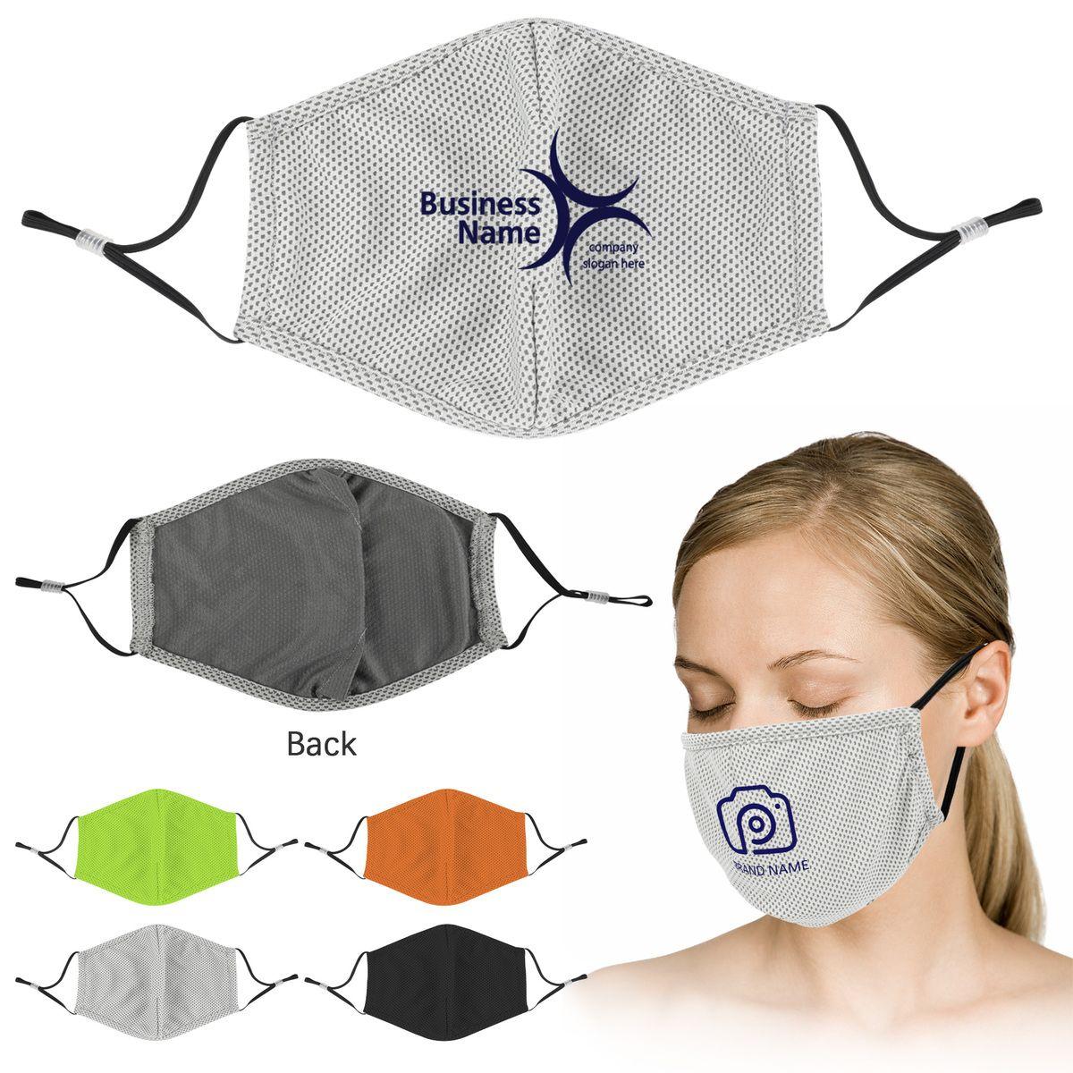 Reusable Sublimated Cooling Face Mask 203475 Gobrandspirit Com