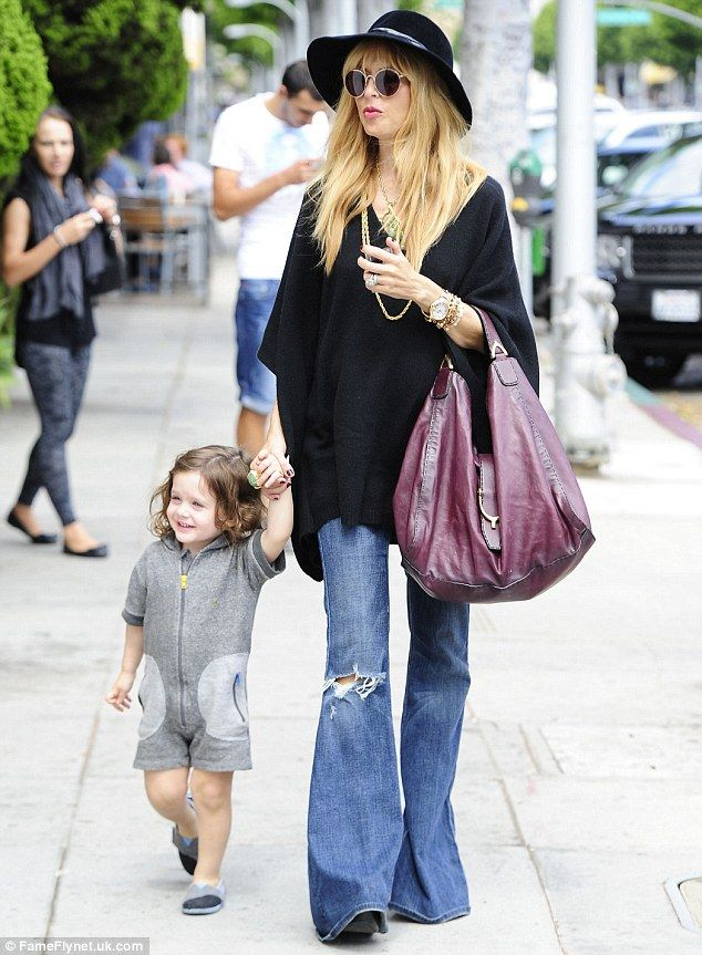 9f65ceb467dc9 Under wraps: Pregnant Rachel Zoe concealed her baby bump as she stepped out  with her son Skyler in Beverly Hills, California on Wednesday