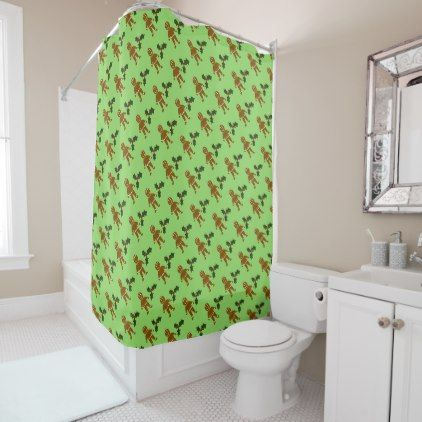 Gingerbread Man Christmas Shower Curtain
