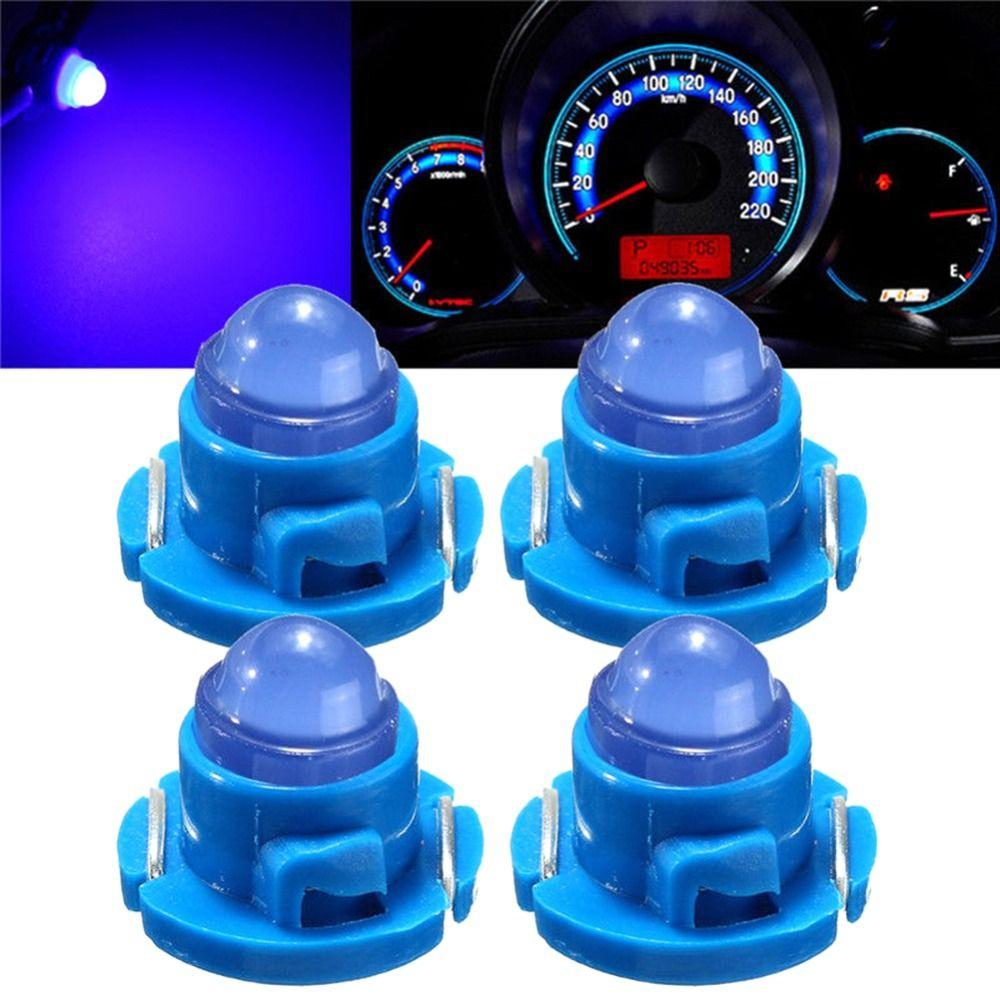 4x T5 T4 7 B8 5d B8 4d B8 3d 1smd Blue Wedge Led Bulb Dash Climate Control Cluster Instrument Light Car Styling Accessories New Chronic Goods A Chronic Inte Led Bulb Blue Wedges