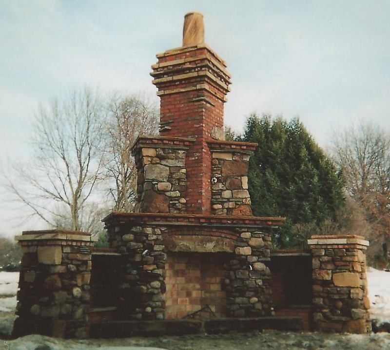 Outdoor Fireplace precast outdoor fireplace : Another favorite outdoor fireplace designed by my husband. He used ...