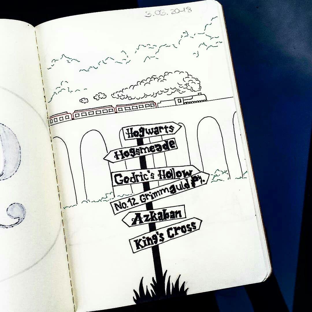 Welcome In Harry Potter Harrypotter Draw Drawing Harrypotterdrawing Harrypotterdraw Bilder Malen Einfach Skizzen Zeichnen Bunte Zeichnungen
