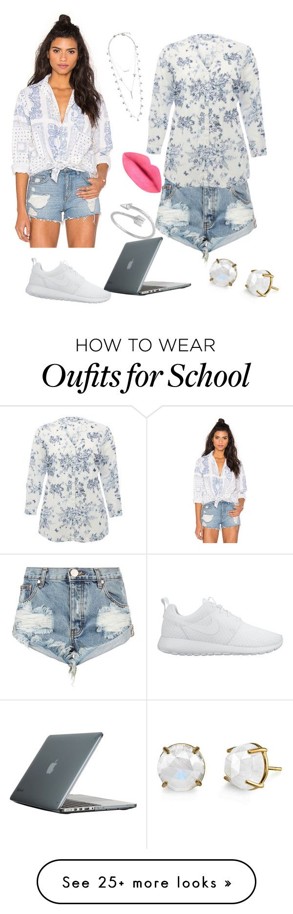 """School "" by nikola-sperlikova on Polyvore featuring Current/Elliott, One Teaspoon, M&Co, NIKE, Lucky Brand and Speck"
