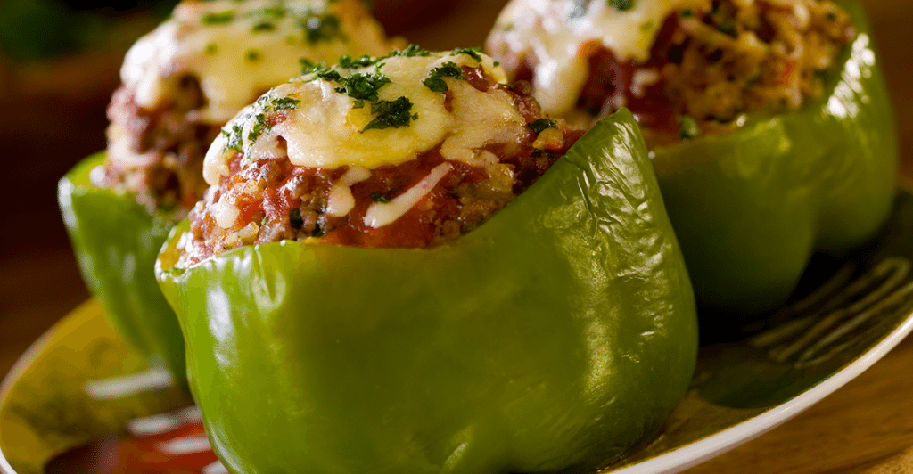 Air Fryer Roasted Stuffed Peppers Stuffed peppers, Food