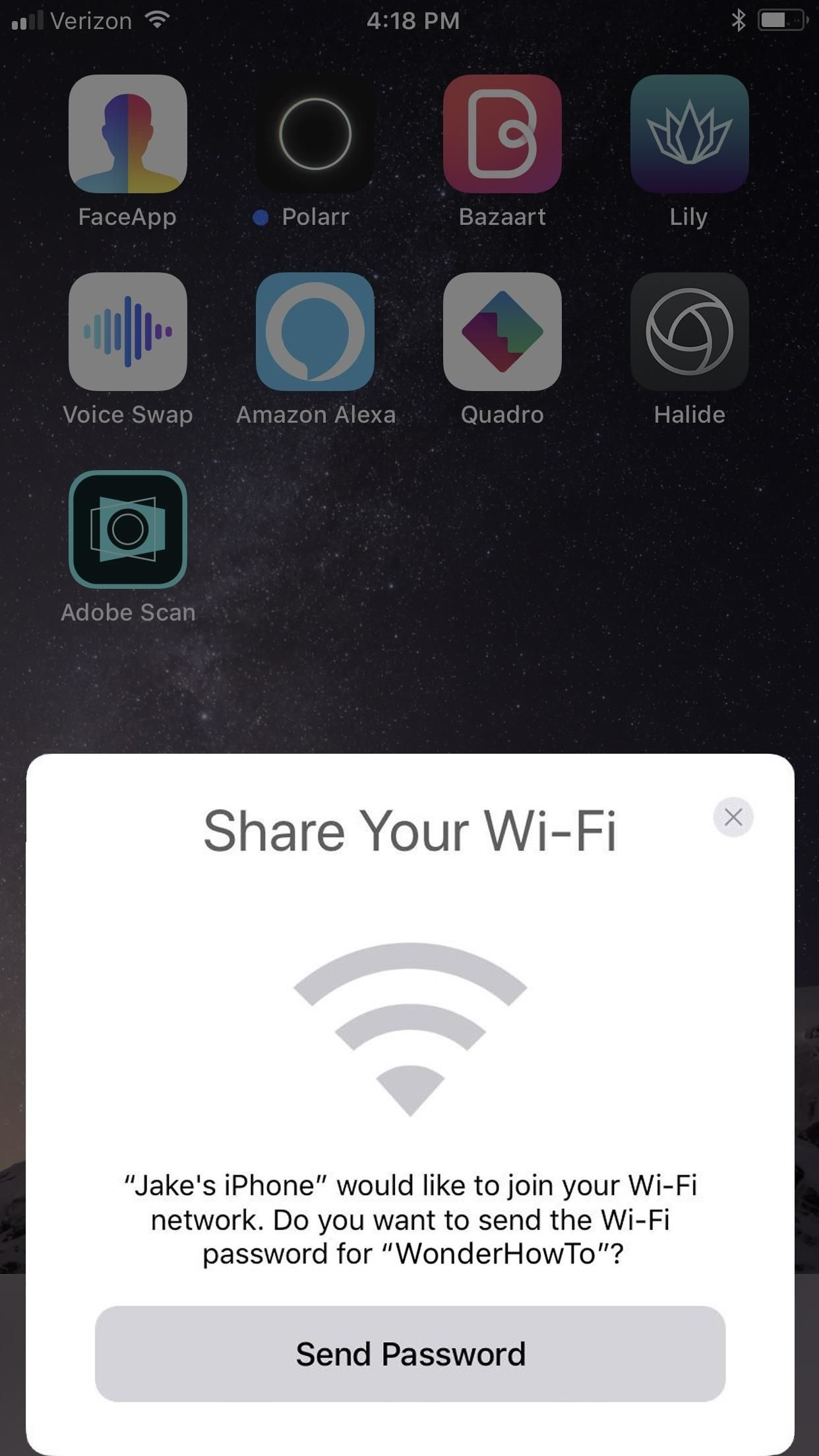 How to Instantly Share WiFi Passwords from Your iPhone to