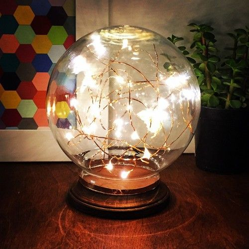 3 easy steps to make this mid century modern illuminated globe! DIY steps on the blog today {link in profile} it looks amazing day or night!