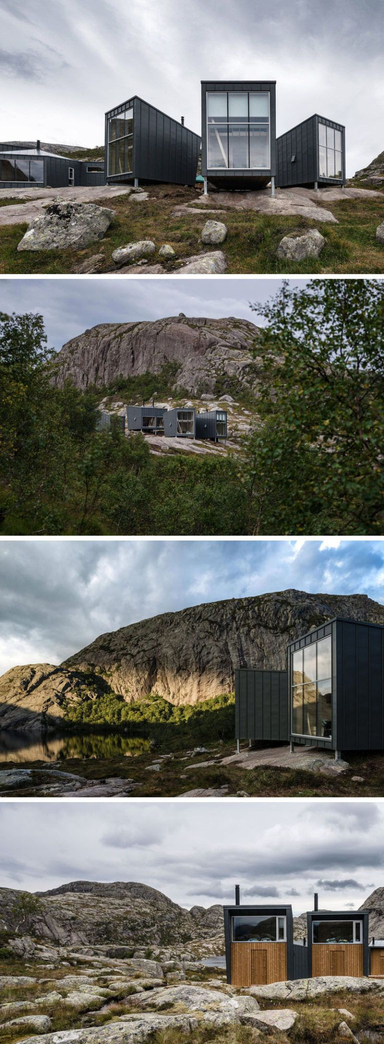 Via http://PrefabNsmallhomes.tumblr.com | Mountain lodges for hikers, Forsand, Norway by KOKO Architects