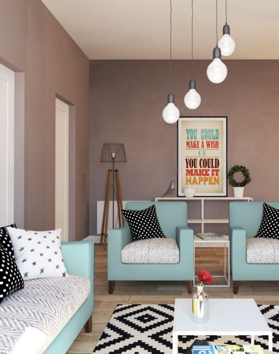 Wohnung im skandinavischen Stil Blog - Wohnzimmer Weis Turkis
