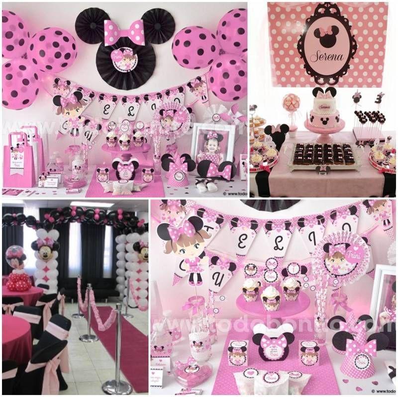 Decoracion de baby shower de minnie mouse b for Decoracion de minnie mouse