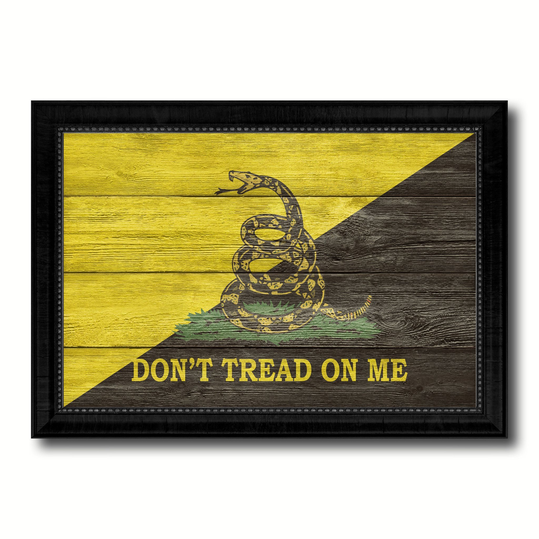 Gadsden Don\'t Tread on Me Military Flag Canvas Print Black Picture ...