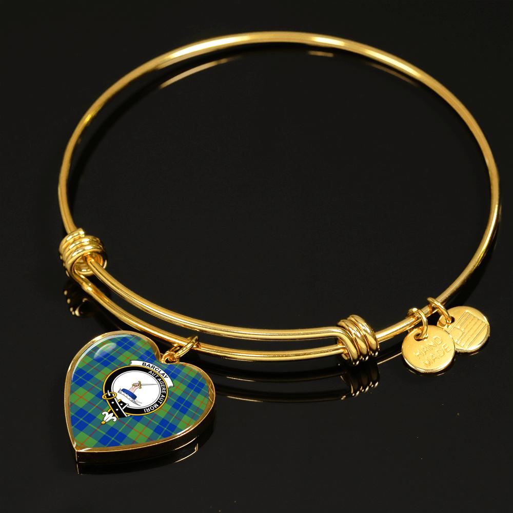 BARCLAY HUNTING ANCIENT TARTAN GOLD BANGLE - TM