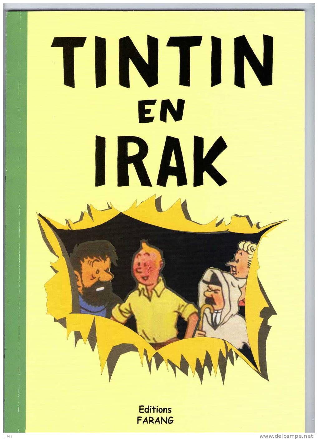 album pastiche Tintin en Irak