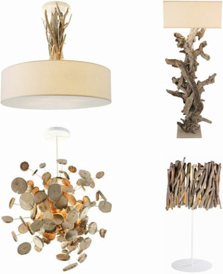 Bricolage l mpara de madera reciclada blog totpint for Lamparas para apartamentos pequenos