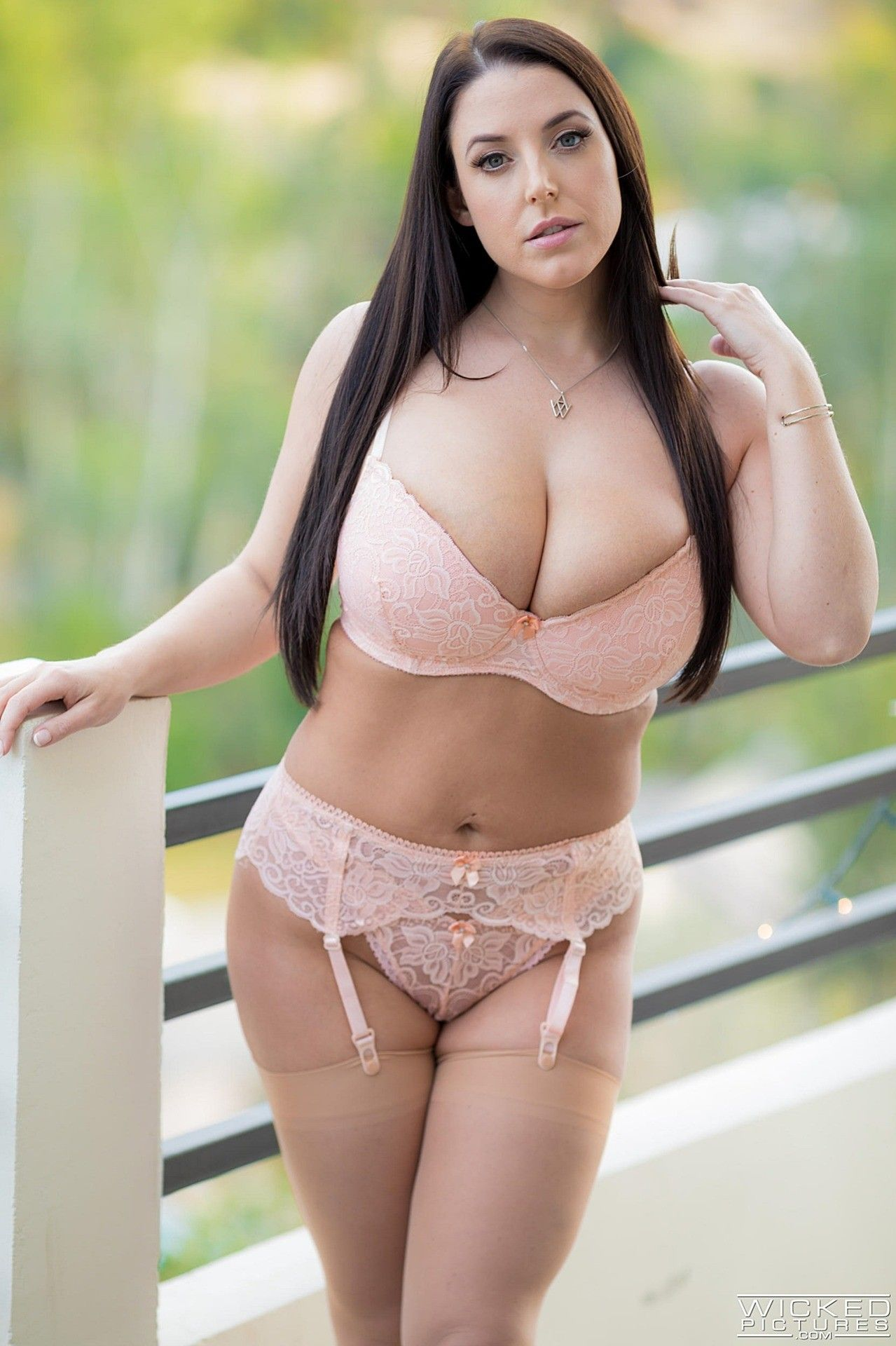 Pink lingerie angela in
