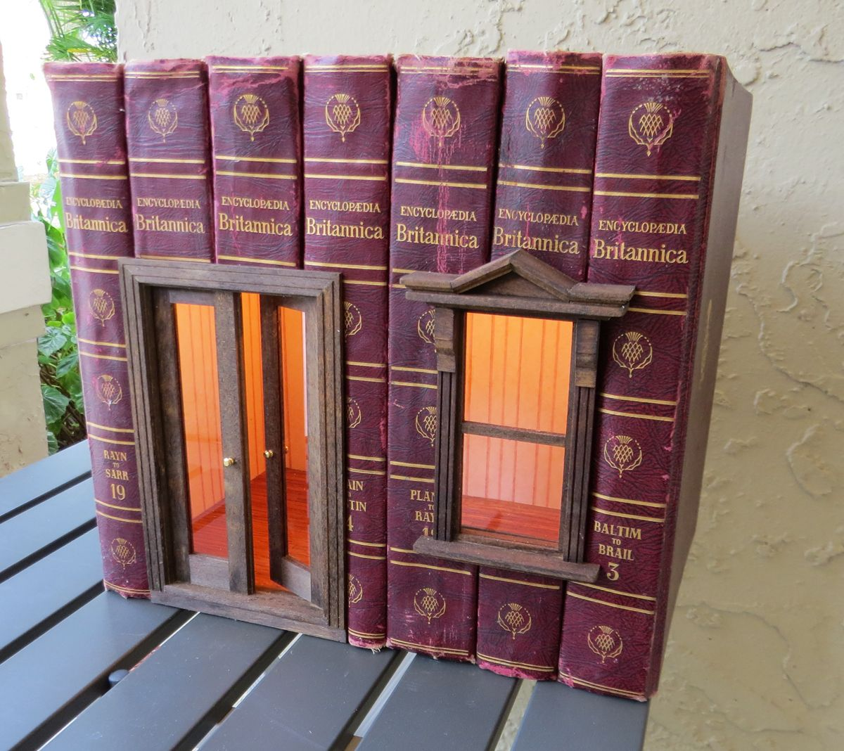 This disturbs me. Probably because Mom valued the Encyclopedia Britannica she found second-hand as one of her greatest accomplishments. #miniaturerooms
