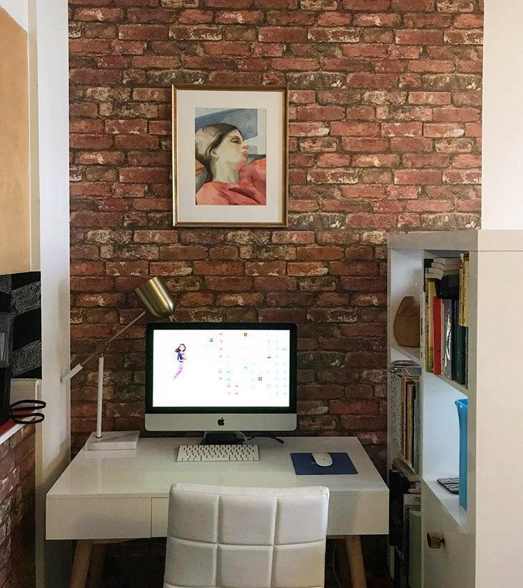 Red Brick Peel And Stick Wallpaper Brick Feature Wall Wood Feature Wall Peel And Stick Wallpaper