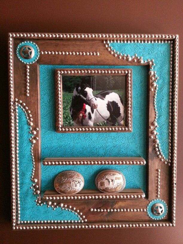 Country western photo frame and belt buckle display   Craft Ideas ...