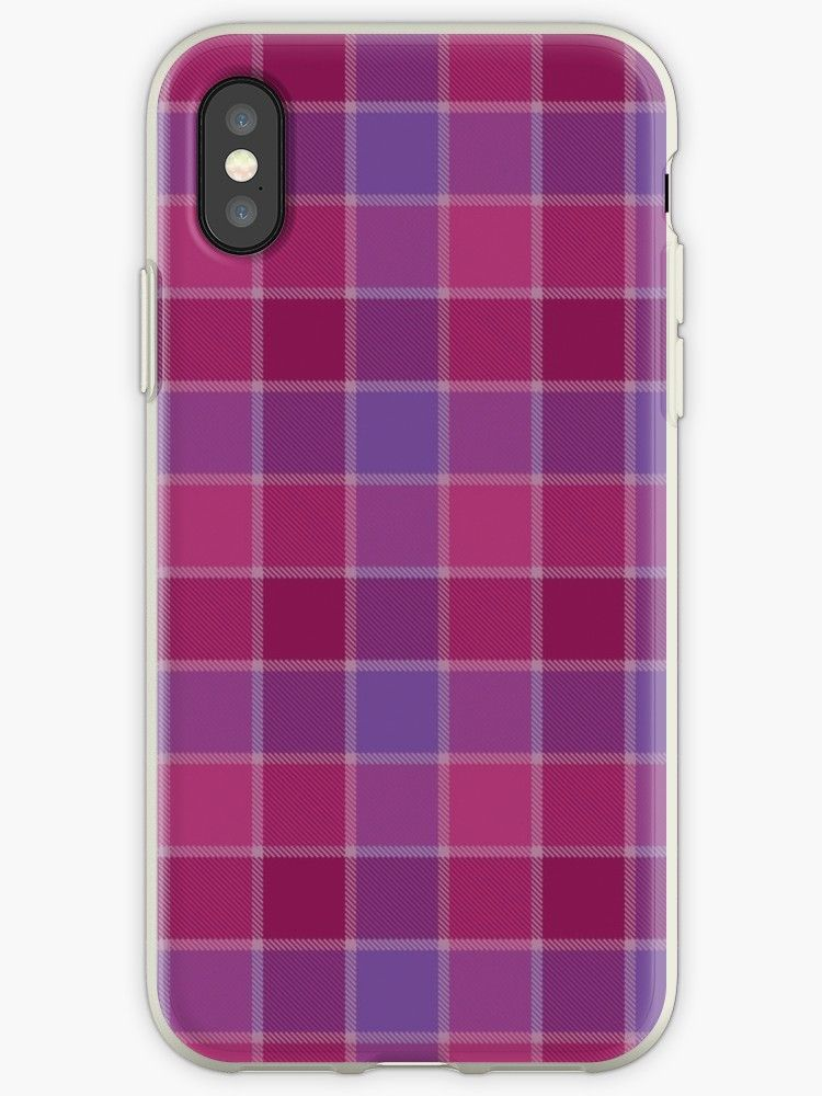 Wine and plum print plaid iphone 12 soft by lrei1