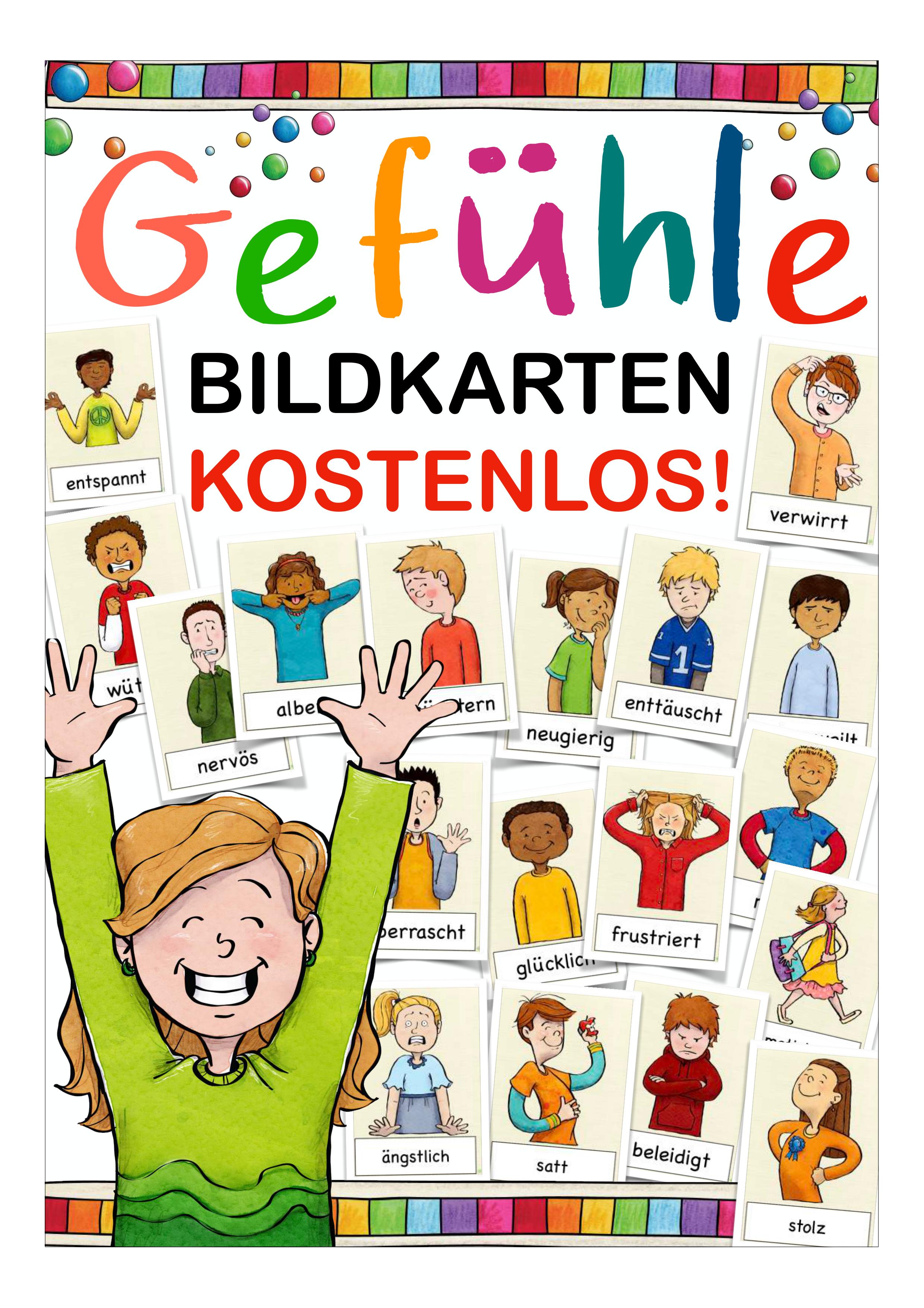 kostenlos Bildkarten Gefühle – Unterrichtsmaterial in den Fächern DaZ/DaF & Deutsch & Religion & Sachunterricht