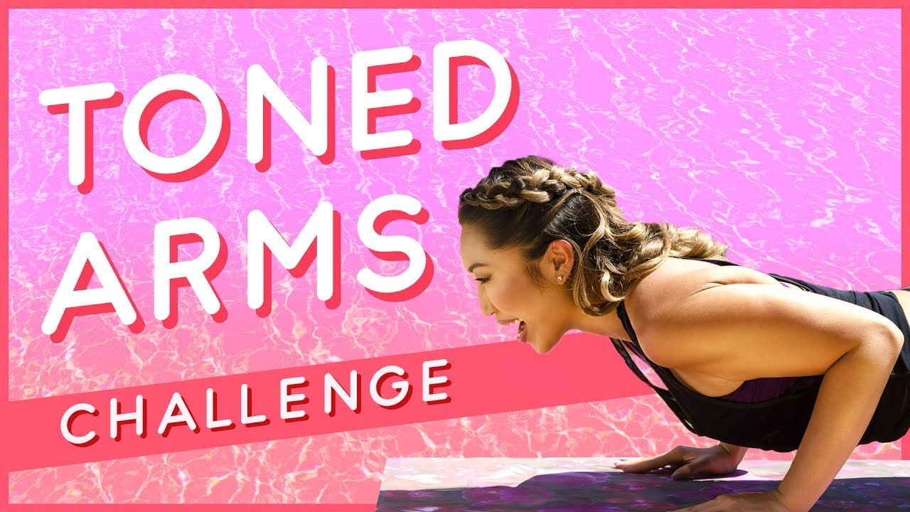 Super Excited To Share With You Another Weightless Arm Workout You Don T Need Any Dumbbells No Equipment Shoulder Workout Toned Arms Weightless Arm Workout