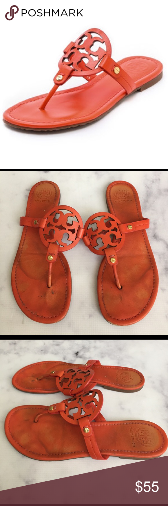 c6c55db4c48537 Tory Burch Miller Tiger Lily Sandals super fun pop of color in these Tiger  Lily (