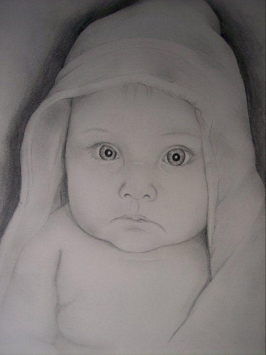 drawing portrait baby JRM   Portrait drawing, Pencil ...