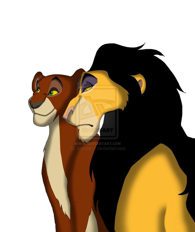 Ahadi and uru mufasa and scar parents