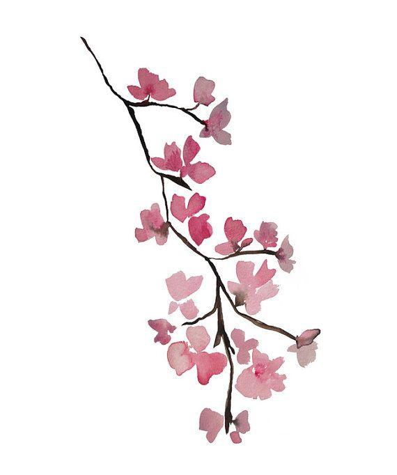 cherry blossom art art print giclee modern by KianaMosleyStudio